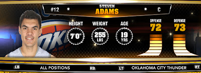 NBA 2K13 Thunder Steven Adams - Round 1 12th Overall