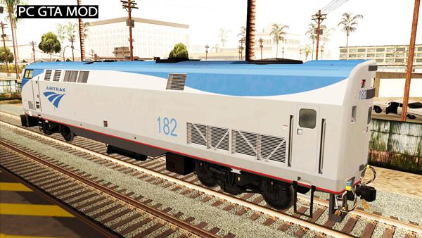 Free Download Passenger Locomotive GE P42DC Amtrak Phase V Mod for GTA San Andreas.