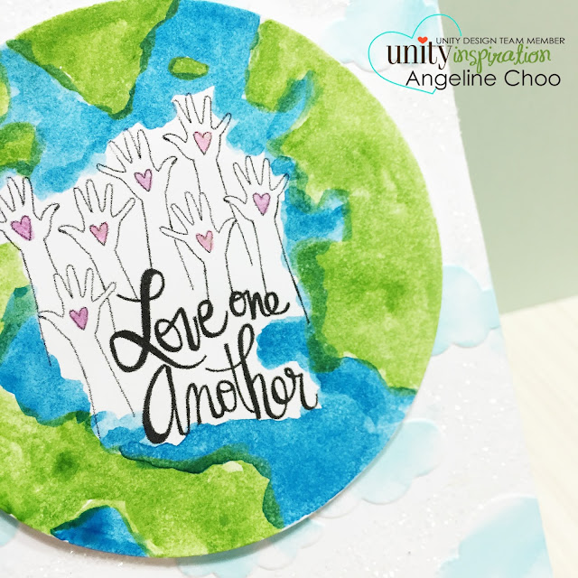 ScrappyScrappy: Frenzy of Unity Cards + [NEW VIDEOS] - Love one another #scrappyscrappy #unitystampco #card #cardmaking #youtube #quicktipvideo #craft #papercraft #handmade #gansaitambi #watercolor #globe #love