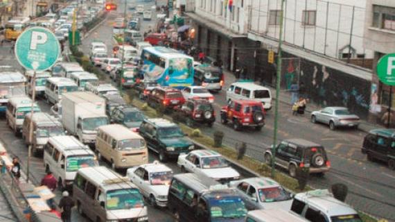 Transporte pública en La Paz