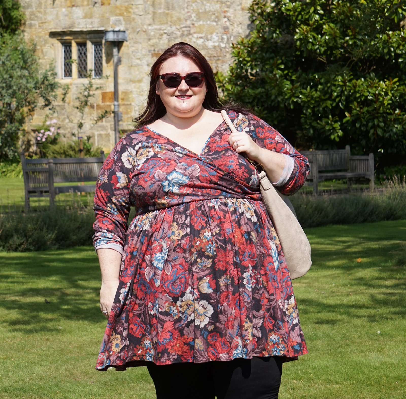 AUTUMNAL-TAPESTRY-PRINT-PLUS-SIZE-DRESS // WWW.XLOVELEAHX.CO.UK