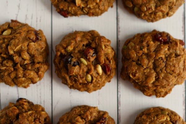 <b>Pumpkin-Oatmeal Cookies</b> {12 Weeks of Winter Squash}