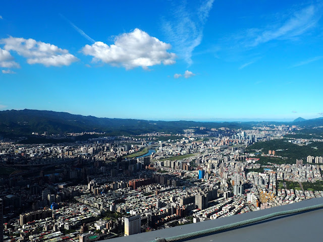 View from the Observatory in the Taipei 101, Taipei, Taiwan