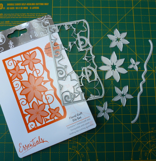 Tonic Floral Cuff 7-in-1 Die set sold with issue 5 of Tonics magazine Craft Kit Essentials Cardmakers Collection