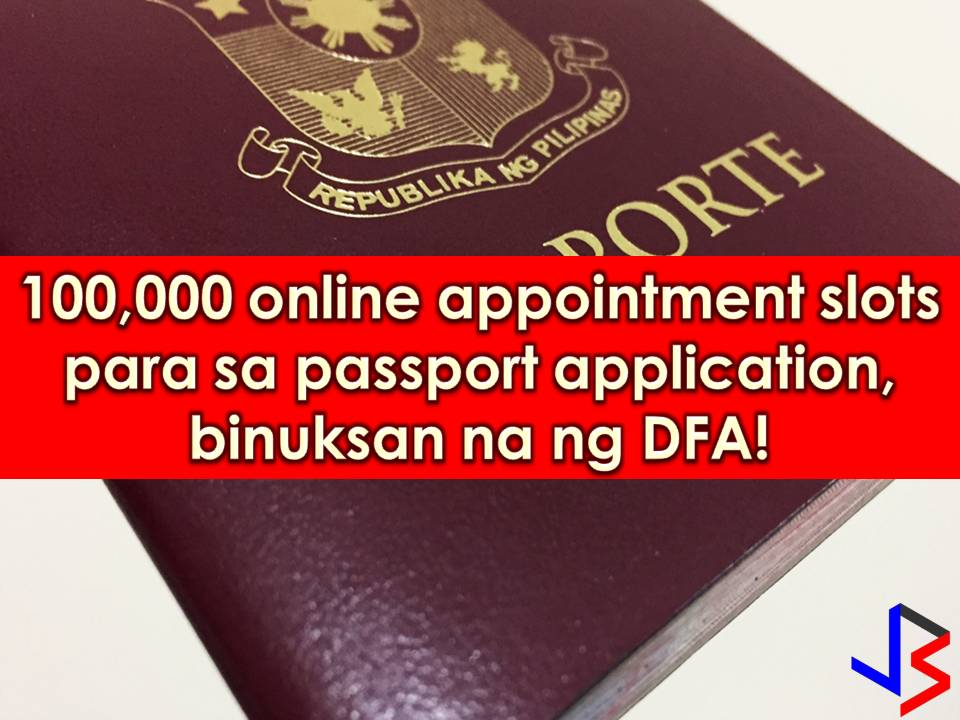 For those who are waiting for Department of Foreign Affairs' (DFA) passport online appointment to be opened, the wait is now over but only for the meantime.   Around 100,000 passport appointment slots for February to May is now open starting Tuesday, January 23, 2018, around 1:00 pm.  It was only last month when netizens criticized DFA for a full schedule of passport online appointment slot until March.    Read: Who Are Exempted From DFA's Online Appointment for Passport Application?