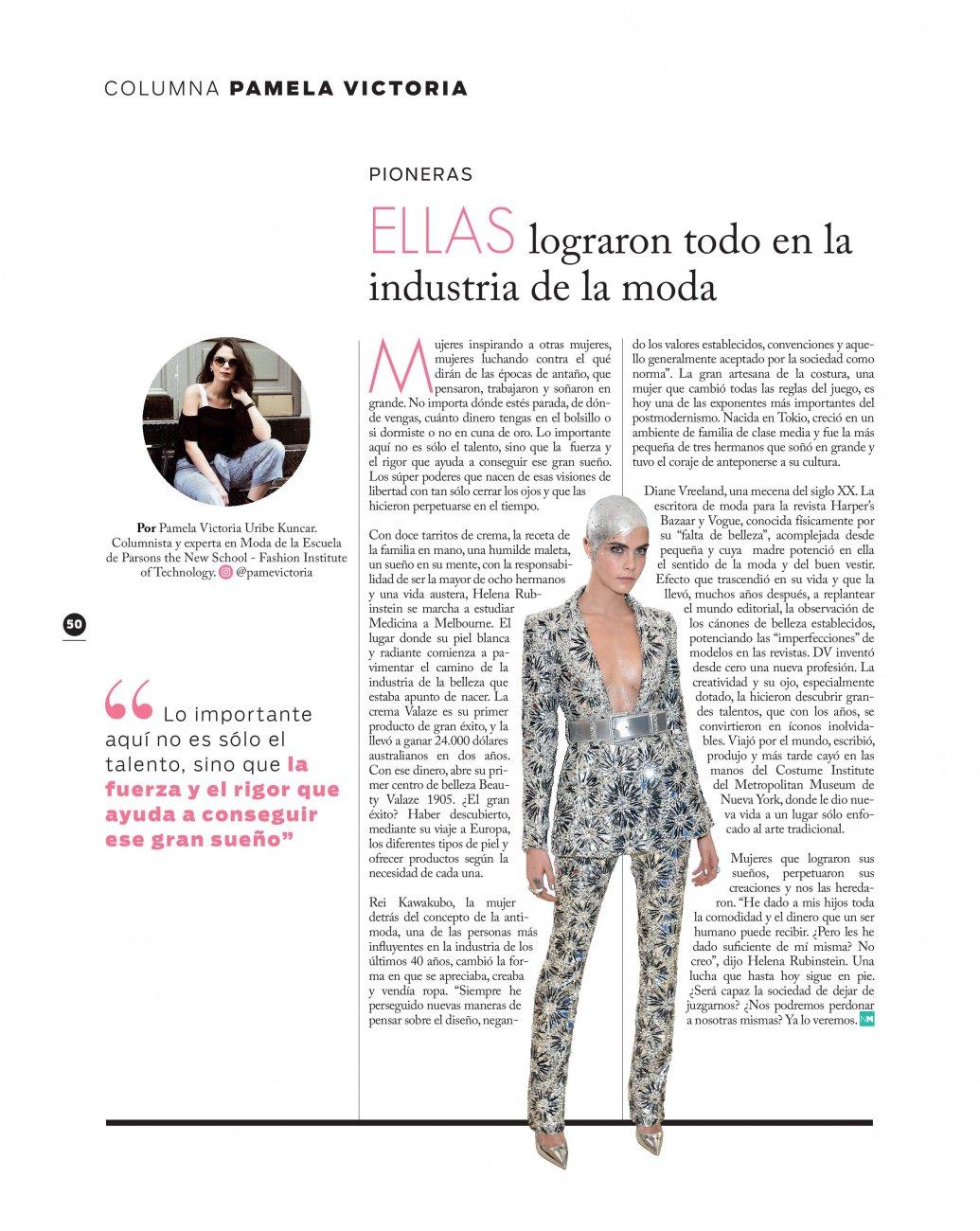 Nueva mujer - columnista de moda en chile - columnista de moda experta en moda en chile
