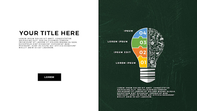 Infographic Education Light Bulb Elements Free PowerPoint Template Slide 11