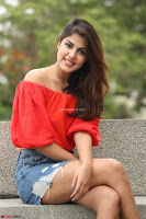 Rhea Chakraborty in Red Crop Top and Denim Shorts Spicy Pics ~  Exclusive 028.JPG
