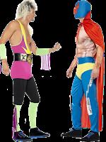 Mexican Wrestler Vs Retro Wrestler
