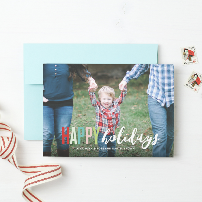 Basic Invite: Keeping It Classic with Custom Holiday Cards