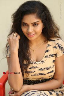 Telugu Actress Karunya Chowdary Stills in Short Dress at ATM Not Working Press Meet  0217.jpg