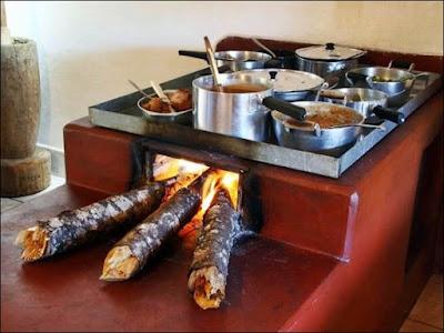 comida no fogao caseiro