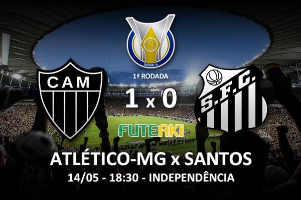 Veja o resumo da partida com o gol e os melhores momentos de Atlético-MG 1x0 Santos pela 1ª rodada do Brasileirão 2016.