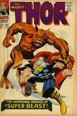 Thor #135, The Man-Beast looms over our hero