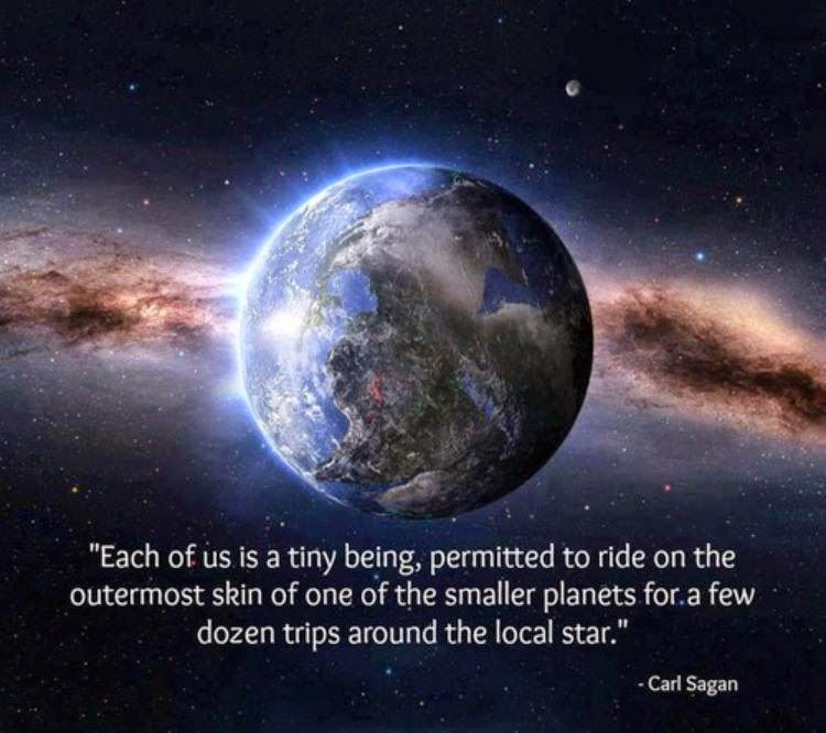 Each of us is a tiny being