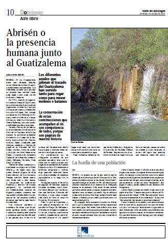 Fañanás: Abrisén o la presencia humana junto al Guatizalema