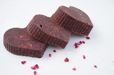Chokoladetrøffel med kokos og hindbær