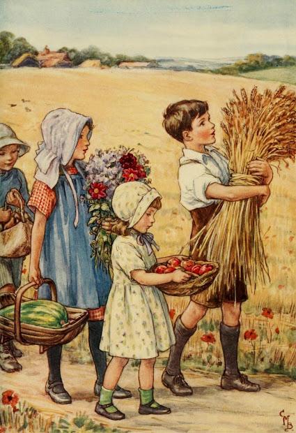 Reading Roses & Prose Children Bringing In Autumn