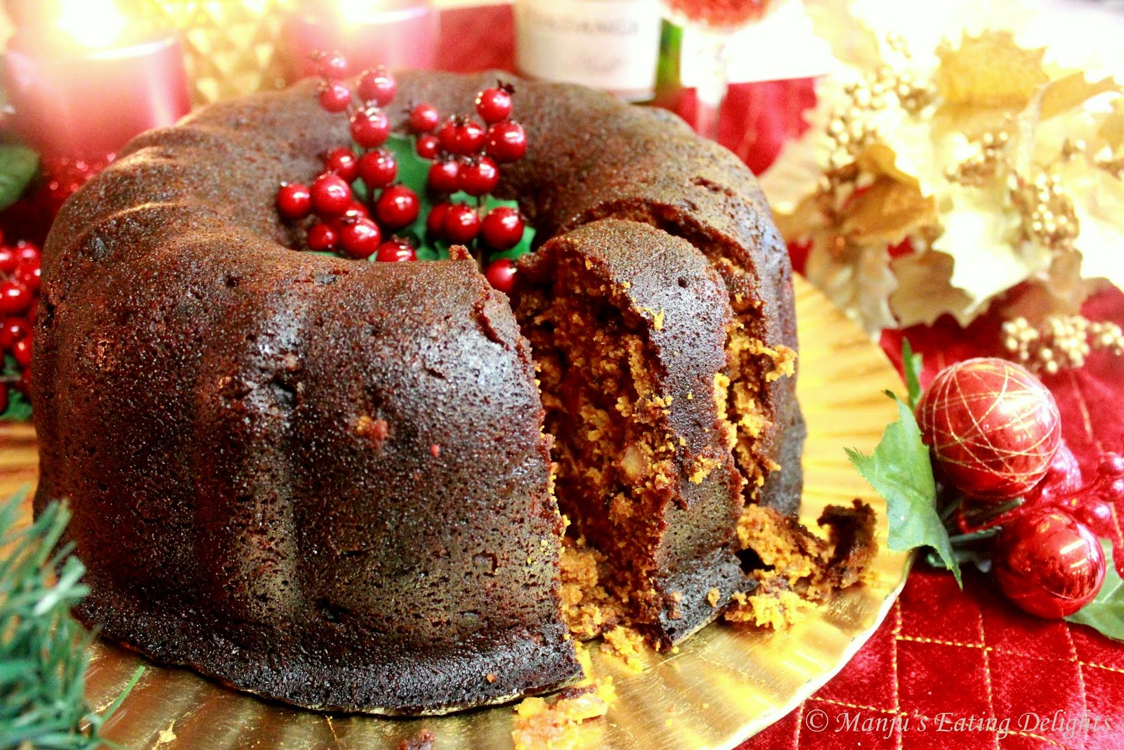 Cake Recipes With Liqueur: Manju's Eating Delights: Traditional Christmas Fruit Cake