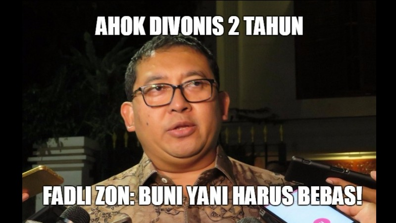 Fadli Zon sebut Buni Yani harus bebas