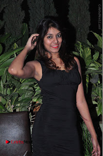 Actress Kavya Kumar Stills in Black Short Dress at F Club pre soft Launch  0017.JPG