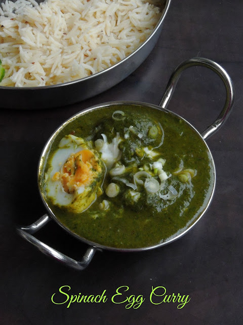 Anda Palak,Egg Palak Curry