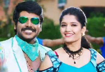 Shivalinga Movie Scenes | Ritika feel the presence of ghost | Rangu Rakkara song | Vadivelu