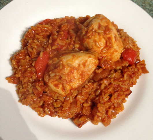 Recipe- Baked Rice with Chicken and Chorizo