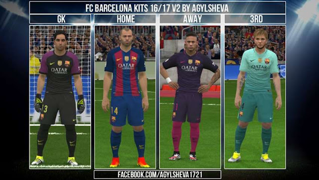 PES 2016 Barcelona Kit 2016-2017
