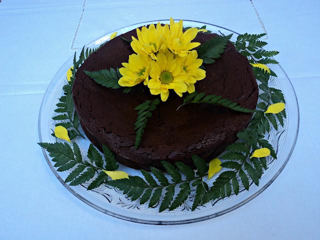 Tarta chocolatada trufada