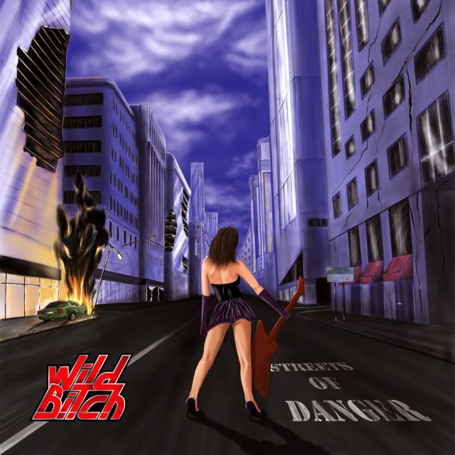 metal album cover sexy miniskirt