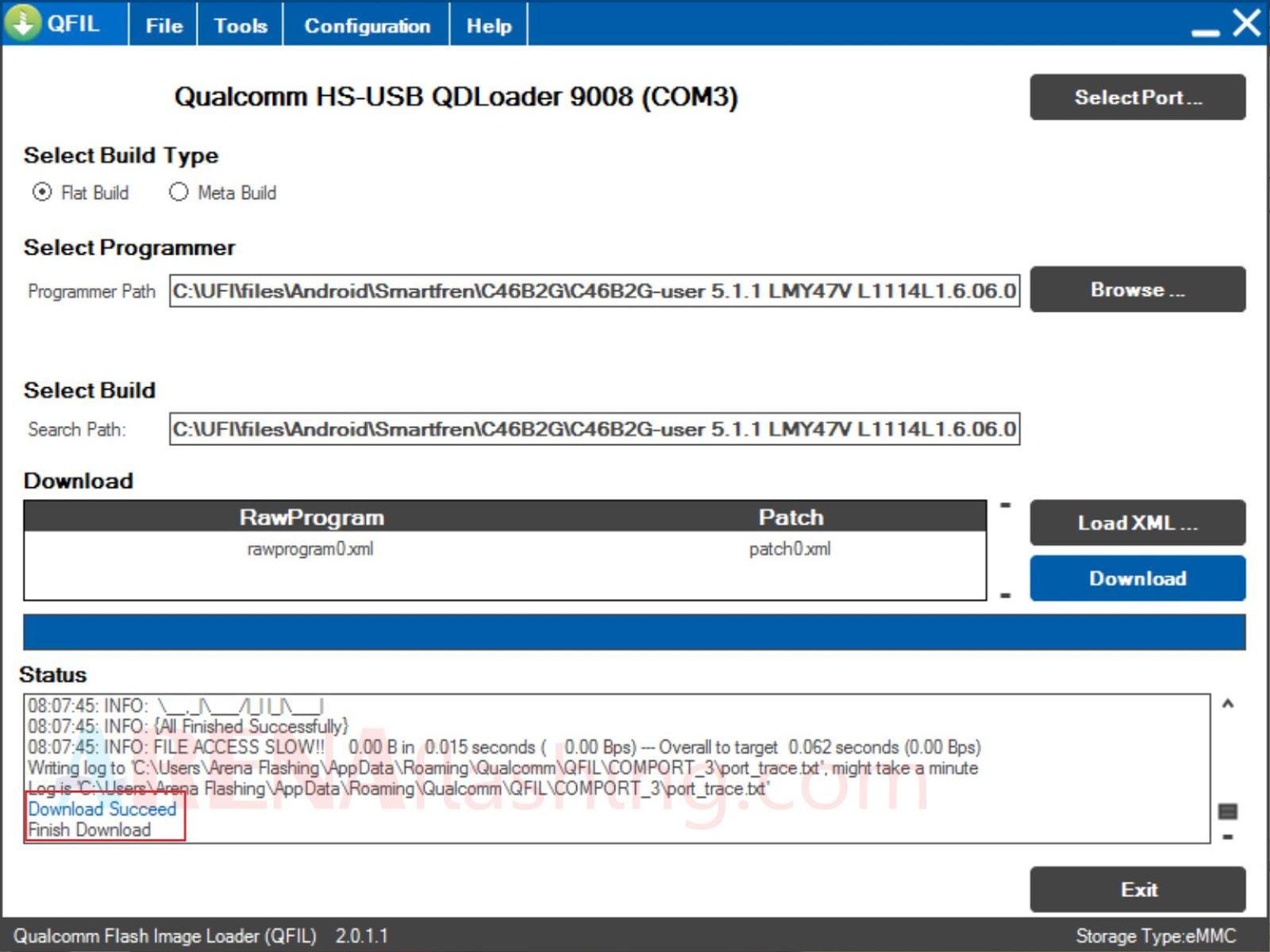 Cara Flash Andromax Es C46B2G Bootloop Via QFIL - Tutorial Flashing