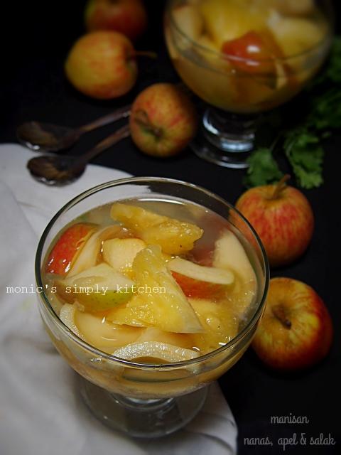 resep manisan nanas apel salak