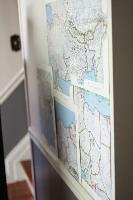 How To DIY Map Wallpaper by @craftivityd