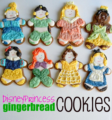 Disney Princess gingerbread cookies