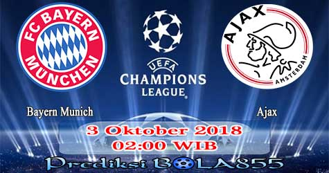 Prediksi Bola855 Bayern Munich vs Ajax 3 Oktober 2018