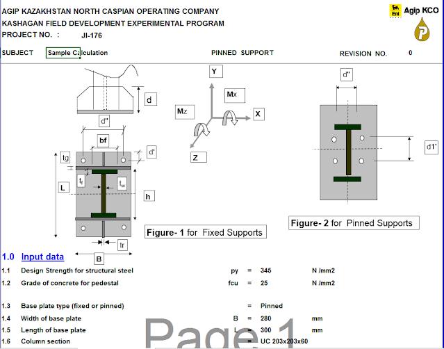 Design of Base Plate