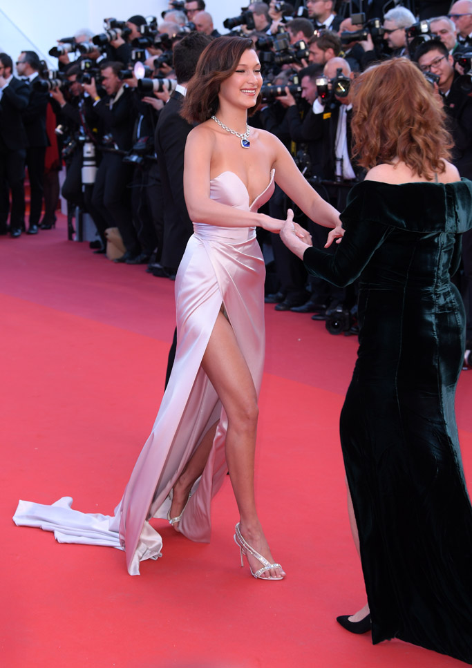 Bella Hadid at the 70th Annual Cannes Film Festival red carpet