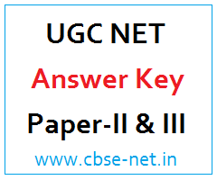 image : UGC NET History Answer Key - Paper-II & III @ cbse-net.in
