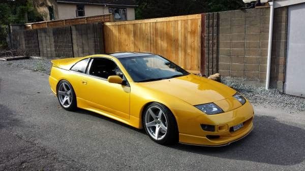 Yellow 1990 Nissan 300ZX Twin Turbo