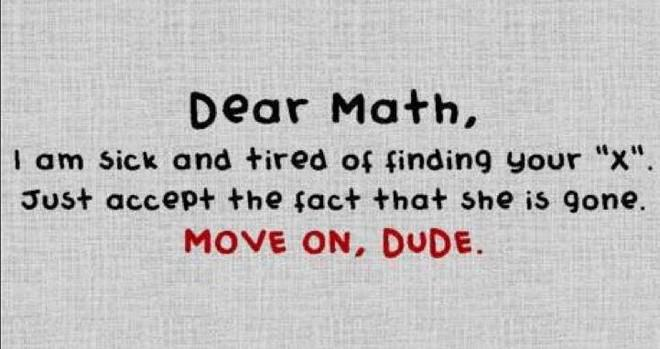 Image result for don't like math