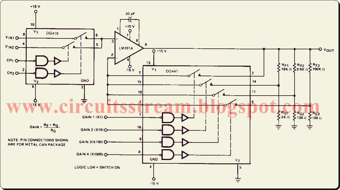 amplifier circuit diagram | electronic circuit diagrams & schematics