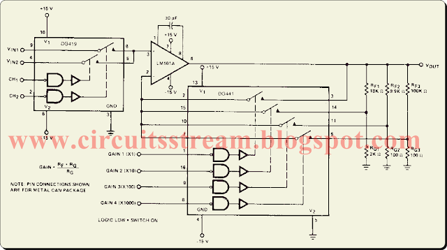 Digital Programmable Exactness Amplifier Circuit Diagram