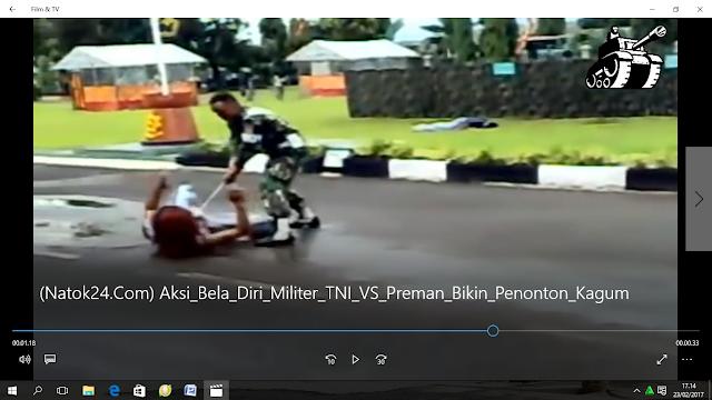 Wow Aksi Beladiri TNI terbaru