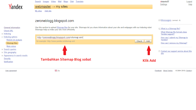 Cara Mudah Mendaftarkan Blog Ke Yandex Terbaru