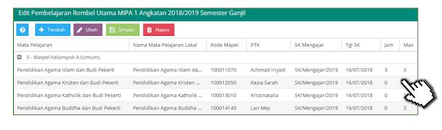 jadwal pelajaran pendidikan agama di dapodik 2019
