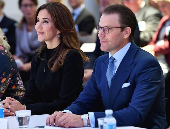 Crown Princess Mary wore Designers Remix Dress. Crown Princess Victoria wore a long cuff sleeve midi dress in beige