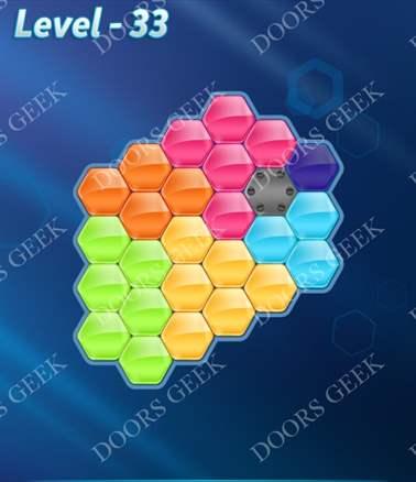 Block! Hexa Puzzle [6 Mania] Level 33 Solution, Cheats, Walkthrough for android, iphone, ipad, ipod