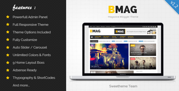 BMAG – Magazine Responsive Blogger Template