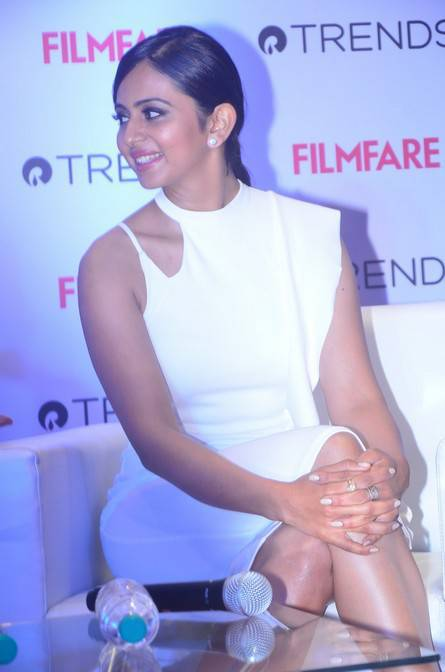 Rakul Preet Singh At Filmfare Meet and Greet At Reliance Trends Stills